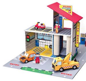 Krooom - ekologiczne zabawki z kartonu - Garaż braci Willson - zabawka z trwałego kartonu Krooom - K303 - 2828044691