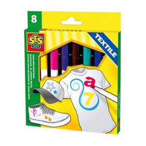 SES Creative - zabawki kreatywne, zabawki plastyczne, zestawy do malowania i modelowania, zabawki edukacyjne - Tekstylne markery do malowania - SE 00269 - 2828044704