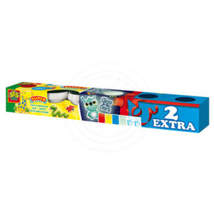 SES Creative - zabawki kreatywne, zabawki plastyczne, zestawy do malowania i modelowania, zabawki edukacyjne - Super plastelina - 6 małych tubek - SE 00456 - 2828044705