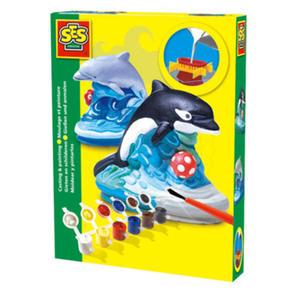 SES Creative - zabawki kreatywne, zabawki plastyczne, zestawy do malowania i modelowania, zabawki edukacyjne - Zestaw do odlewu z gipsu - delfin - SE 01274 - 2828044706