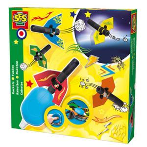 SES Creative - zabawki kreatywne, zabawki plastyczne, zestawy do malowania i modelowania, zabawki edukacyjne - Rakiety napędzane powietrzem - zestaw - SE 14904 - 2828044713