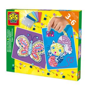 SES Creative - zabawki kreatywne, zabawki plastyczne, zestawy do malowania i modelowania, zabawki edukacyjne - Kreatywny zestaw - stwórz mozaikę - SE 14813 - 2828044707