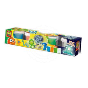 SES Creative - zabawki kreatywne, zabawki plastyczne, zestawy do malowania i modelowania, zabawki edukacyjne - Super plastelina - 4 małe tubki zestaw - SE 00478 - 2828044709