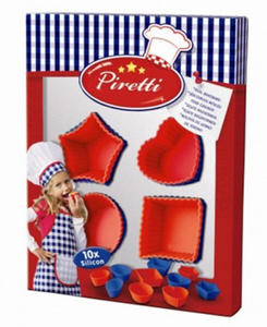 SES Creative - zabawki kreatywne, zabawki plastyczne, zestawy do malowania i modelowania, zabawki edukacyjne - Zestaw kucharza - Foremki do muffinek - Piretti - SE 09427 - 2828044768