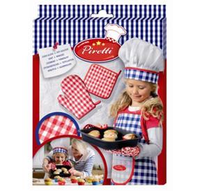 SES Creative - zabawki kreatywne, zabawki plastyczne, zestawy do malowania i modelowania, zabawki edukacyjne - Zestaw kucharza - Rękawica i ściereczka ochronna do pieczenia - SE 09405 - 2834211207