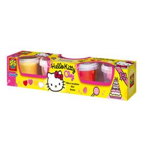 SES Creative - zabawki kreatywne, zabawki plastyczne, zestawy do malowania i modelowania, zabawki edukacyjne - Plastelina Hello Kitty 4 kolory - 00443 - 2828044782