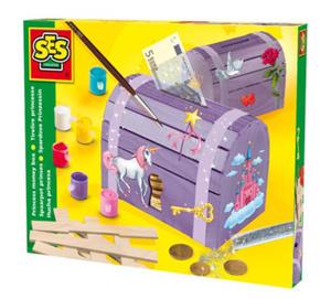 SES Creative - zabawki kreatywne, zabawki plastyczne, zestawy do malowania i modelowania, zabawki edukacyjne - Skrzynia skarbów księżniczki - 14522 - 2828044783