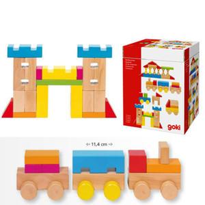 GOKI - Klocki drewniane w pudełku 52 elementy - 58883 - 2828044817