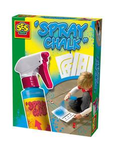 SES Creative - zabawki kreatywne, zabawki plastyczne, zestawy do malowania i modelowania, zabawki edukacyjne - Spray niebieski do malowania po chodniku +szablony - 02224 - 2828044833