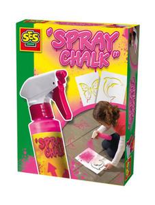 SES Creative - zabawki kreatywne, zabawki plastyczne, zestawy do malowania i modelowania, zabawki edukacyjne - Spray różowy do malowania po chodniku +szablony - 02228 - 2828044834