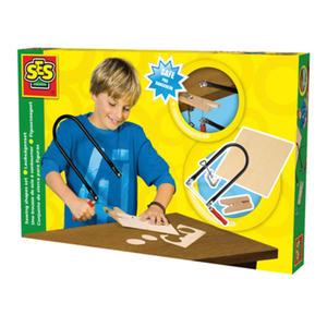 SES Creative - zabawki kreatywne, zabawki plastyczne, zestawy do malowania i modelowania, zabawki edukacyjne - Zestaw stolarski do wycinania kształtów - 14940 - 2828044842