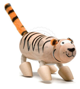 Anamalz - Figurka tygrysa - zabawki drewniane Anamalz - TI2010 - 2828044426