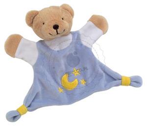 GOKI - Welurowa przytulanka - błękitny niedźwiadek - zabawki dla niemowląt - 65091 - 2828044440