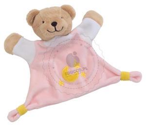 GOKI - Welurowa przytulanka - różowy niedźwiadek - zabawki dla niemowląt - 65090 - 2828044441