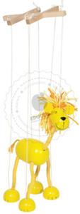 GOKI - Marionetka - roztrzepany lew - zabawki drewniane - 51868 - 2828044431