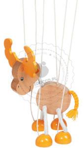 GOKI - Marionetka - wesoły łoś - zabawki drewniane - 51968 - 2828044434