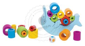 GOKI - Zabawy zręcznościowe - Delfin - zabawki drewniane - 56901 - 2852145322