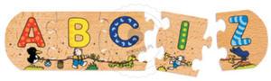 GOKI - Literowe puzzle - zabawki drewniane - 57013 - 2828044491