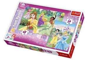 Puzzle 2w1 24, 48el. Księżniczki TREFL