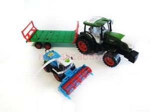 Duży zestaw traktor z lawetą + kombajn 72 cm - 2834924720