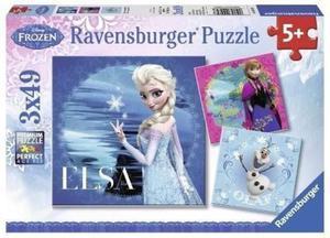 Puzzle 3x49 Elsa Anna Olaf Frozen Ravensburger - 2834924729