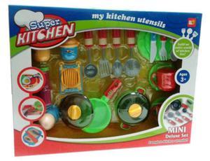Zestaw kuchenny naczynia sztućce garnki - 2832625322