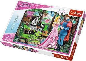 Puzzle 200 el. Księżniczki Spotkanie w lesie Trefl - 2849451983