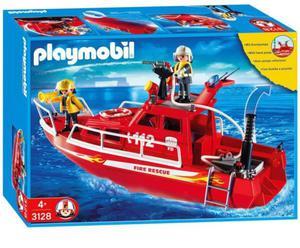 Łódź strażacka z armatką wodną 3128 Playmobil - 2857957715