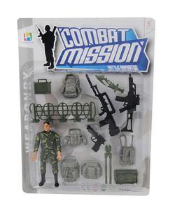 Zestaw figurka żołnierz + uzbrojnie akcesoria - 2858186762
