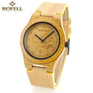 Modny zegarek drewniany Bewell Smooth - 2859220577
