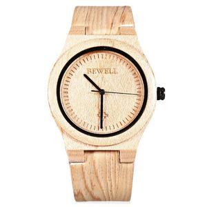 Modny zegarek drewniany Bewell Smooth + pude - 2859220572