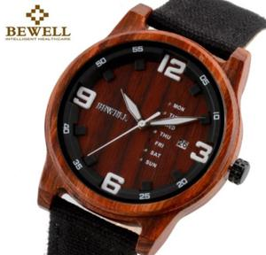 Drewniany zegarek Bewell ZS-W156A - 2859220600