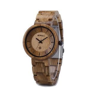 Damski Drewniany Zegarek Bewell ZS-155A - 2859220606