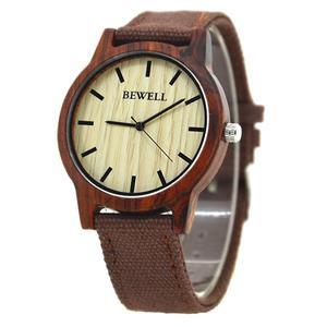 Stylowy drewniany zegarek Bewell Basic + pude - 2859220580