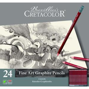 Zestaw ołówków Cretacolor Cleos 24 szt w metalowym opakowaniu - 2879076400