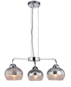 Cromina lampa wisząca 3-punktowa srebrna 33-56368 - 2857888707