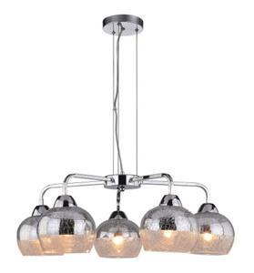 Cromina lampa wisząca 5-punktowa srebrna 35-56375 - 2857888708