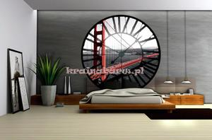 Fototapeta na flizelinie 625VEZ1 Widok przez zegar na Golden Gate Bridge - 2827578845