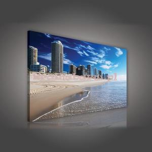 Obraz na płótnie PP515O4 Wieżowce na plaży
