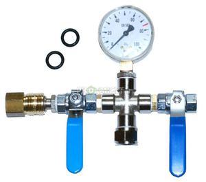 Przetoczka CO2 z szybkozłączką i manometrem - 2827840372
