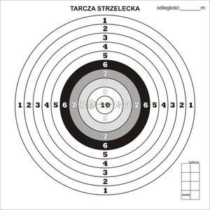 Tarcze strzeleckie 100 szt. - 2827840500