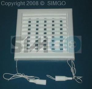 Kratka wentylacyjna 100x100mm z żaluzją MW 100 AR - 2882002665