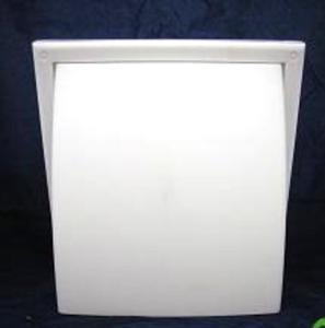 Kratka z zaworem zwrotnym fi 125, zewnętrzna, biała 187 x 187 mm - 2882002758