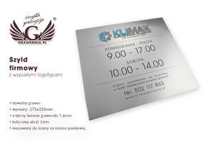 Szyld z wypukłym logo - SZ038 - wym. 275x250mm - 2827299680