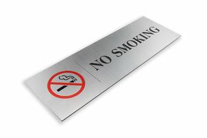 Tabliczka - zakaz palenia - wym. 300x100mm - kolorowy druk UV
