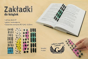 Zakładki do książek komplet 4 szt - abstrakcja - cyfrowy druk UV - ZAK004 - 2874200527