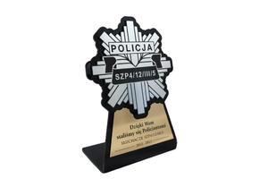 Statuetka z odznaką Policji - model DTA7 - wysokość 18 cm - 2827299553