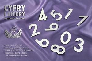 Cyfry i litery wycinane laserem - 2827299055