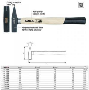 YATO Młotek ślusarski 800 g YT-4508 - 1633254789
