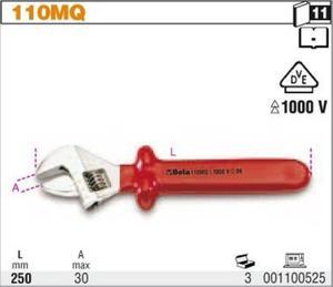 Beta 110MQ/250 Klucz płaski nastawny 250mm w izolacji 1000V - 1633255042